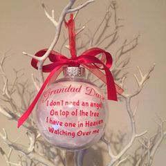 Personalised Feather Filled Angel on my Tree Bauble