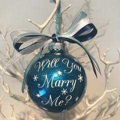 Will You Marry Me Personalised Bauble