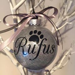 Giant Paw Print Christmas Bauble