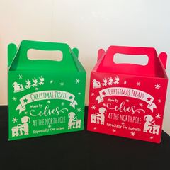 Personalised Christmas Treat Boxes (Choice of Colour)