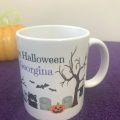 Personalised Halloween Mug (Image all the way around!)