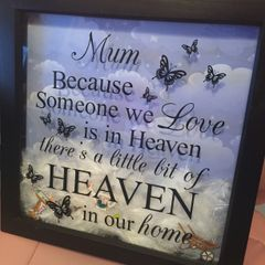 Extra Large Memorial Frame - Gardening Theme