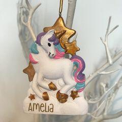 Personalised Unicorn Ornament