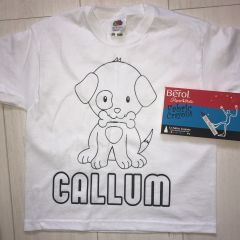 Personalised Puppy Colouring Tshirt