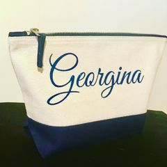 Personalised Dipped Accessory Bag (Choice of size & colour)