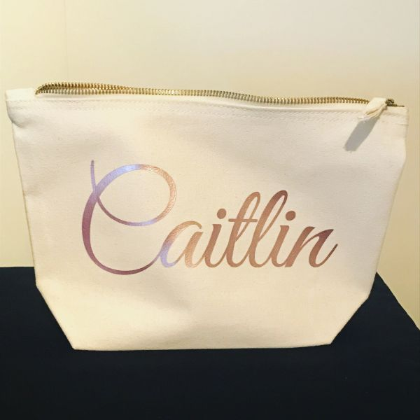Personalised Accessory Bag (Choice of Colour & Size)