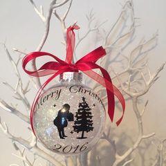 Santa Tree Christmas Bauble