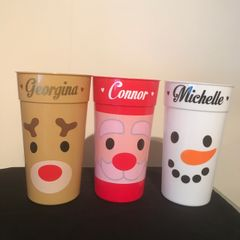 Personalised Tall plastic Cup