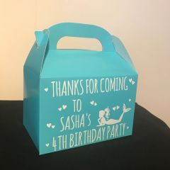 Personalised Mermaid Party Favour Boxes (Choice of Colour)
