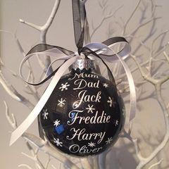 Family List Christmas Bauble