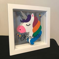 Small Personalised Unicorn Frame