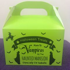 Personalised Vampires Halloween Treat Box