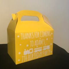 Personalised Train Party Favour Boxes (Choice of Colours)