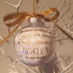 Heaven Memorial Bauble no personalisation (Feathers)