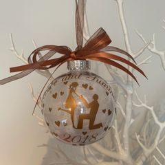Engagement Feather Filled Bauble