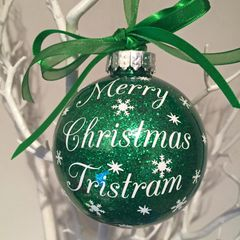 """Merry Christmas """"Name"""" Bauble"""