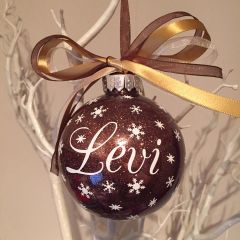 Personalised Name Glitter Bauble