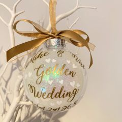Golden Wedding Anniversary Bauble