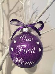 Our First Home Christmas Bauble