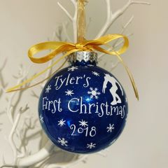 Create Your Own First Christmas Bauble (Glitter)
