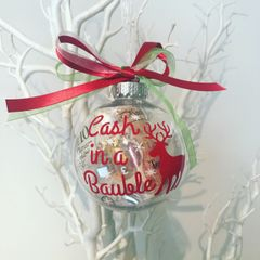 Empty Bauble to fill with your cash!