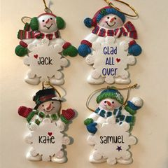 Personalised Snowman Ornament