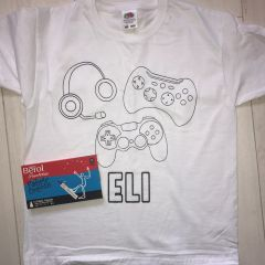 Personalised Gamer Colouring T'Shirt
