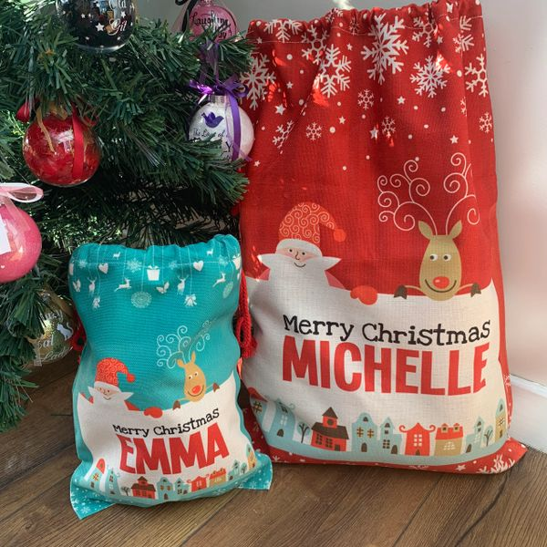 Luxury Personalised Santa Sack (choice of 2 colours & 2 sizes)