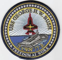 Aircraft Carrier USS George H. W. Bush CVN-77 patch
