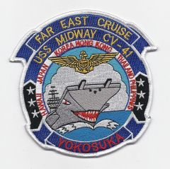 USS Midway CV-41 Far East Cruise patch