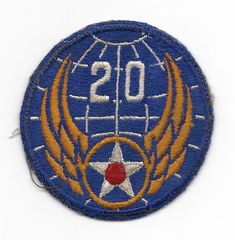 World War II 20th Army Air Corps patch