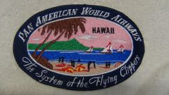 "Pan American Airways 1950's ""Hawaii"" Luggage Label patch"