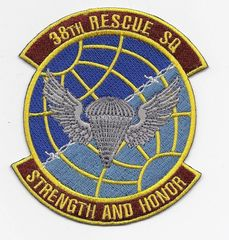 "USAF 38th Rescue Squadron ""Strength & Honor"" patch"