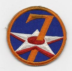 World War II 7th Army Air Corps patch
