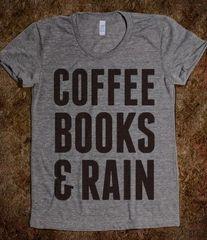 Coffee Books & Rain Tee