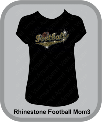 Football Script Rhinestone Design Tee