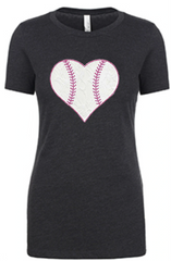ABC Lace Baseball Heart - NL Tri-Blend Tee