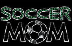 Soccer Mom Green Arch Rhinestone Tee, Tank, Long Sleeve, Hoodie