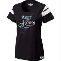 ACST Swim Mom Tail Rhinestone Design - Holloway Ladies Tribute Tee