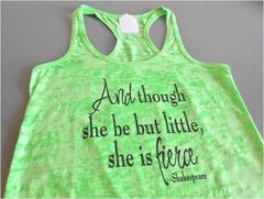 Shakespeare-She is Fierce Workout Tank