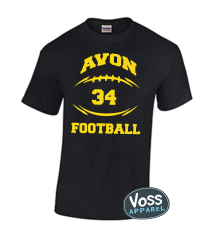 AJAA or AVON Football Skeleton Shirt or Hoodie