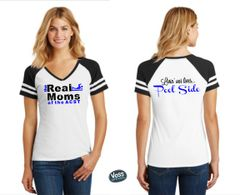 Real Moms of the ACST Design - District Ladies Game V-Neck