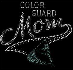 Color Guard Mom Rhinestone Tee, Tank, Long Sleeve, Hoodie