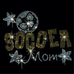 Soccer Mom Stars Rhinestone Tee, Tank, Long Sleeve, Hoodie