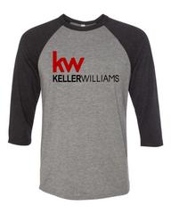 Keller Williams Raglan 3/4 Sleeve Tri-Blend-Grey