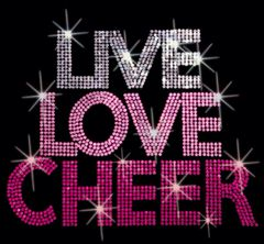 Live Love Cheer Sequins Design