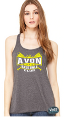 ABC Crossed Bats Design - Bella Flowy Racerback Tank