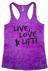 Live Love & LIft Burnout Workout Tank (Fitted)