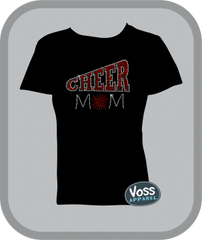 "Rhinestone ""CHEER"" Mom Tee"