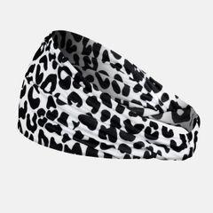 Wide Fitness/Yoga/Running Headband-Black Cheetah
